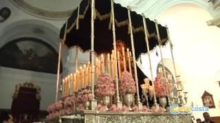 El niño José A. Garrido hizo la primera levantá de la Virgen de los Dolores en Gibraleón