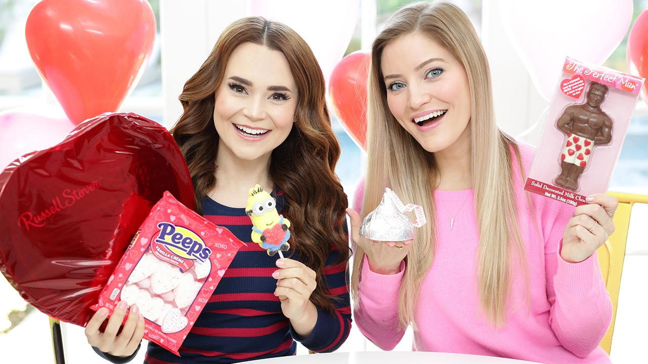 TRYING FUN VALENTINES CANDY w/ iJustine! thumbnail