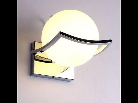 Recensione ITA Goeco mini moderna Lampada da parete applique da parete con diffusore in vetro