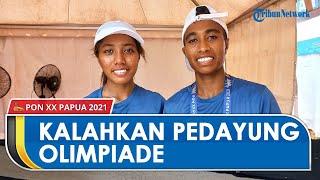 Pedayung Putri Maluku Arni dan Chelsea Kalahkan 2 Atlet Olimpiade di Babak Penyisihan PON XX Papua