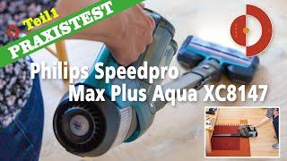 Philips Speedpro Max Plus Aqua XC8147 im Test und Vergleich  - Akkustaubsauger mit Wischmop