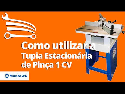 Tupia Estacionária Refiladora de Borda Pinça 610 x 480 mm 1CV Mono 110/220V - Video