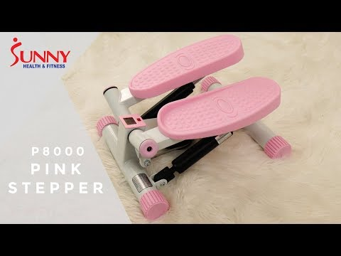 Sunny Health & Fitness P8000 Pink Adjustable Twist Stepper