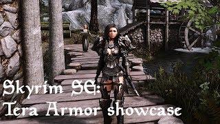 Skyrim SE Tera Armor showcase part1 nvt ENB