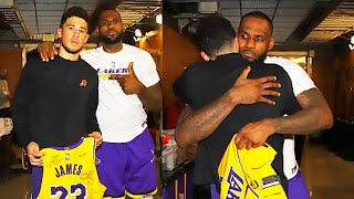 LeBron James Gives Devin Booker Respect With A Signed Jersey After Game  Game 6! Lakers vs Suns