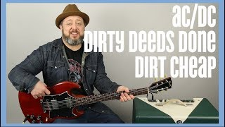 "AC/DC ""Dirty Deeds Done Dirt Cheap"" Guitar Lesson"
