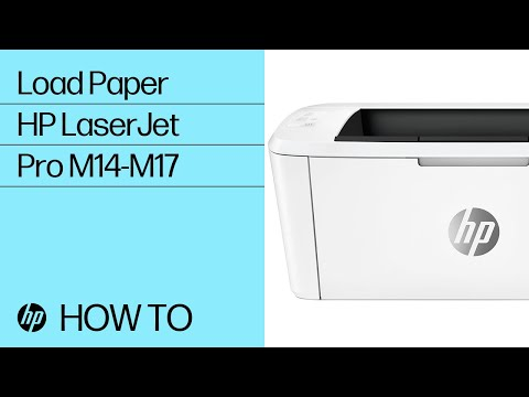 How to Load Paper in HP LaserJet Pro M14-M17 Printers