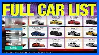 Forza Horizon 4 : FULL CAR LIST + DLC CARS!!!