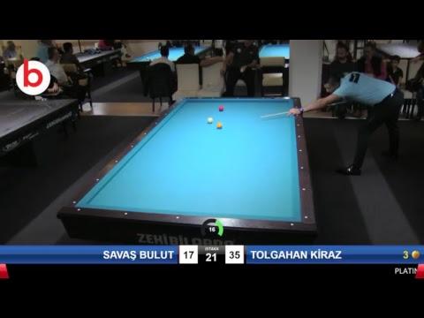 SAVAŞ BULUT & TOLGAHAN KİRAZ Bilardo Maçı - PLATINUM BİLARDO - 2018 CUMHURİYET TURNUVASI-Çeyrek Final