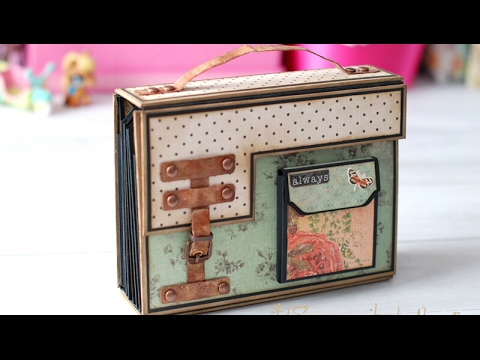 Tutorial scrapbooking Album maleta