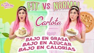 PAY DE LIMON FIT VS NORMAL | CARLOTA SALUDABLE | MIS PASTELITOS