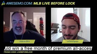 MLB DFS Strategy - Sat 4/20 - DraftKings FanDuel Yahoo - Awesemo.com