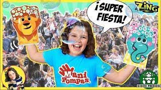 ¡¡SÚPER FIESTA de POMPAS de JABÓN!! 👋 Presentación de MANI POMPAS BARCELONA con 500 FANS!