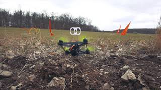 Vertical frame FPV racing - 2021 outdoor race training #1