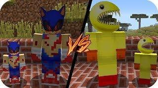 🐷 Clan vs clan SONIC.EXE VS PAC MAN.EXE - MINECRAFT BEBE AENH