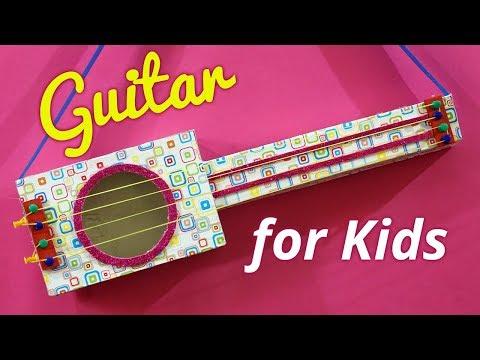 Easy Diy Handmade Guitar Toy For Kids