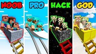 Minecraft NOOB vs. PRO vs. HACKER vs. GOD: FAMILY ROLLERCOASTER  in Minecraft! (Animation)