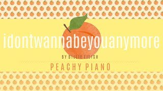 Gambar cover Idon'twannabeyouanymore - Billie Eilish | Piano Backing Track