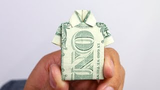 How To make Shirt Origami With Dollar Bill