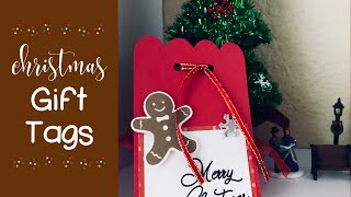 Gingerbread Man Christmas Tags | Cricut Maker | Write Cut