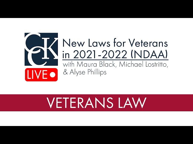 New Laws for Veterans and Servicemembers in 2021: NDAA