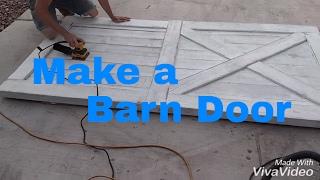 Build Antique White Barn Doors. DIY Barn Door. Custom Woodwork.