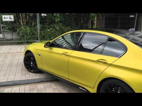 Autofolierung Pforzheim BMW 5 gold matt