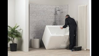 Vasca Da Bagno Easylife : Easylife vasca doccia con sportello zaffiro e ambra Видео