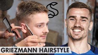 Antoine Griezmann Hairstyle - Short Sporty Side Swept - Men Hair Inspiration