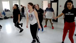 Afro Dance Workshop Soukous(ndombolo) & Kuduro April 2018 Sacanagem  Preto Show