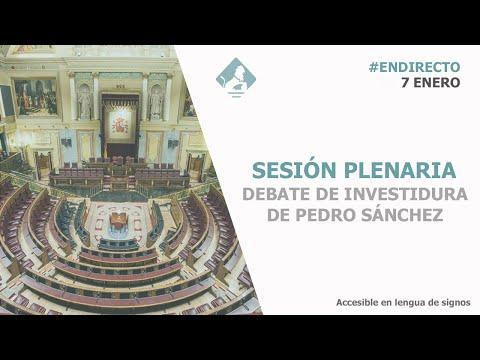 Comienza la sesión definitiva de la investidura de Sánchez