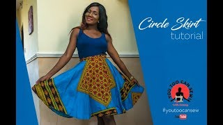 EASY WAY TO MAKE A CIRCLE SKIRT | BEGINNERS SEWING