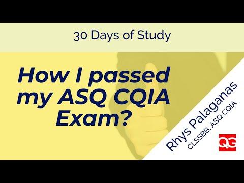 How I passed my ASQ CQIA exam? - YouTube