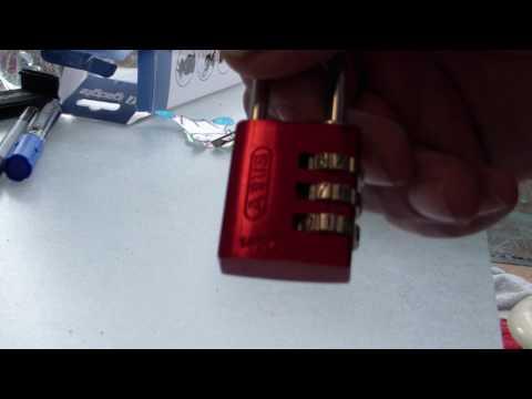 Zahlenschloss knacken ABUS 145/30 - Combination lock - Lockpicking