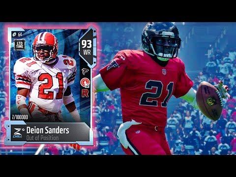 WR Deion Sanders H2H Showcase! Madden NFL 18 Gameplay