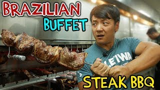 All You Can Eat BRAZILIAN STEAK BBQ Buffet in New York - Video Youtube
