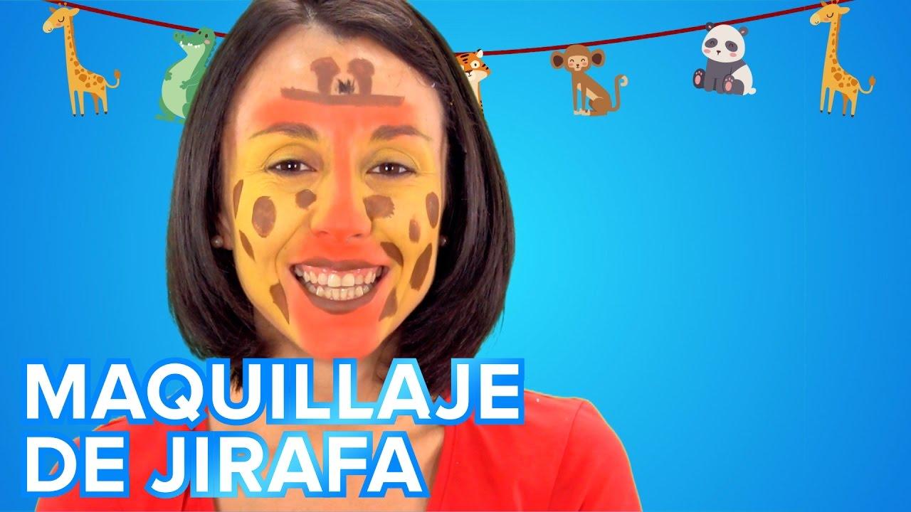 Maquillaje de Jirafa para disfraces infantiles
