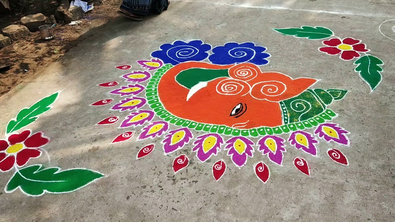 rangoli competition for pongal by mahesh balla