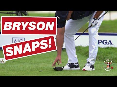 BRYSON DECHAMBEAU BREAKS DRIVER AT 2020 PGA CHAMPIONSHIP