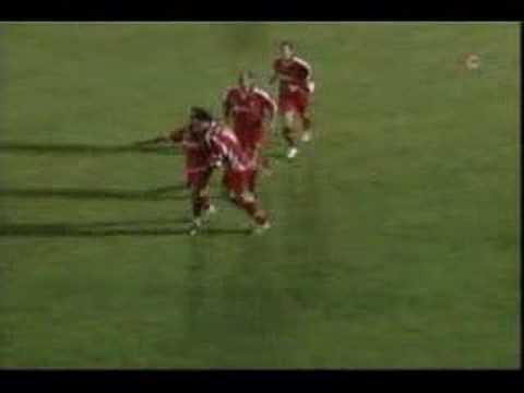 Gol de Ocaña del Racing Portuense al Toledo