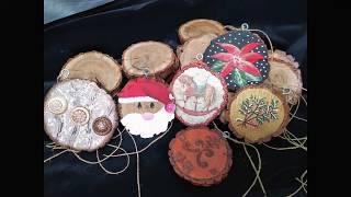 Ξύλινα Χριστουγεννιάτικα Στολίδια