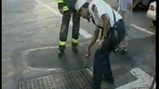 "911stealth WTC1 Jules Naudet ""Saw"" AA Logo So Fast Between 2 Bldgs"