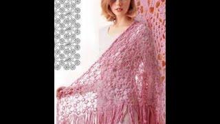 ВЯЗАНИЕ ШАЛИ КРЮЧКОМ - видео-уроки -  модели работ 2018 / Crocheted shawl CROCHET - video tutorials