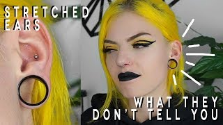 WHAT THEY DONT TELL YOU ABOUT STRETCHED EARS | Stretched Ears After 7 Years