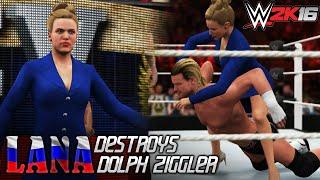 WWE 2K16 PC MOD: Lana destroys Dolph Ziggler