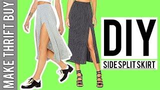 DIY Side Split Jersey Skirt | Make Thrift Buy #54