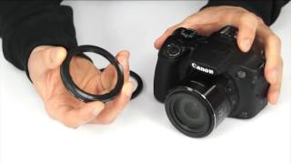 How to attach lens accessories to a Canon PowerShot SX60 HS (and other SX-series cameras)