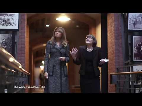 Melania Trump tours Holocaust Memorial Museum