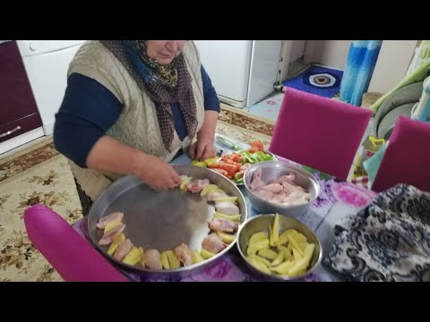 Fırında patatesli kanat ve Nohut yemeği tarifi öğlen yemeği günlük vlog