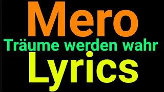Mero | Träume Werden Wahr | Lyrics